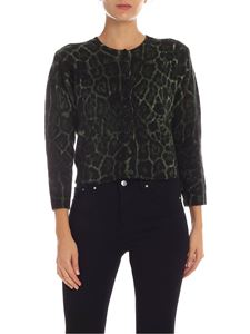 Samantha Sung - Colette cashmere cardigan in green and black