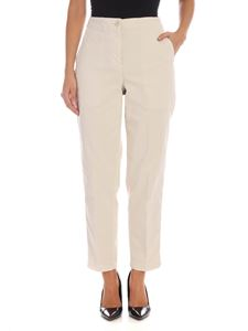 Aspesi - High-waisted trousers in ecrù color