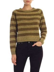 Aspesi - Striped pullover in shades of melange green