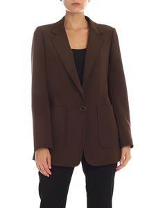 Aspesi - Single-breasted jacket in olive green color