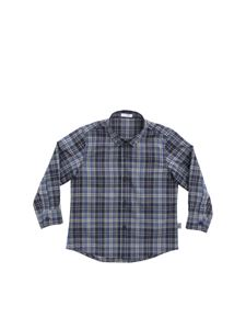 Il Gufo - Check blue and green shirt