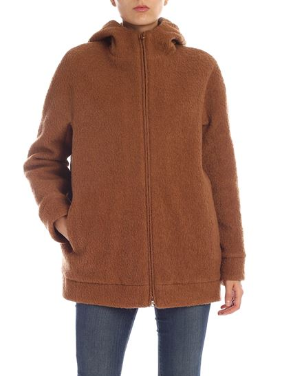 Aspesi - Light brown wool and cotton jacket