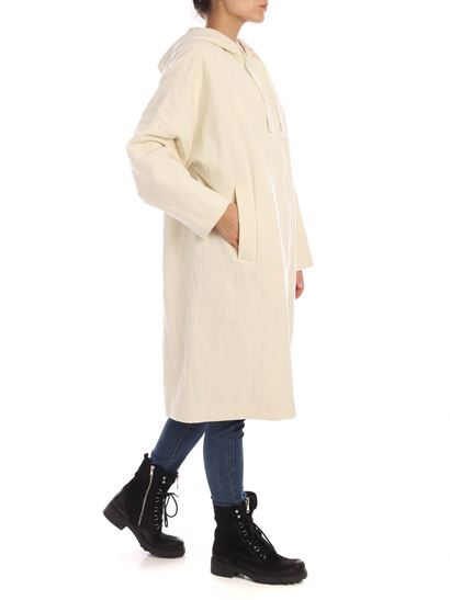 Aspesi - Oversize coat in ivory color