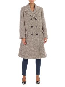 Aspesi - Thermore coat in dove grey and white color