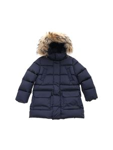 Il Gufo - Blue quilted hooded jacket