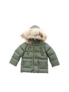 Il Gufo - Green quilted jacket with hood