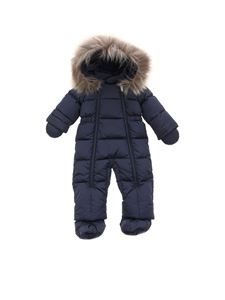 Il Gufo - Quilted padded snow suit in blue