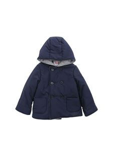 Il Gufo - Blue and gray hooded jacket