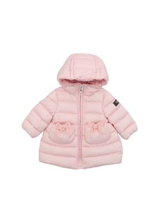 Il Gufo - Pink down jacket with velvet bows