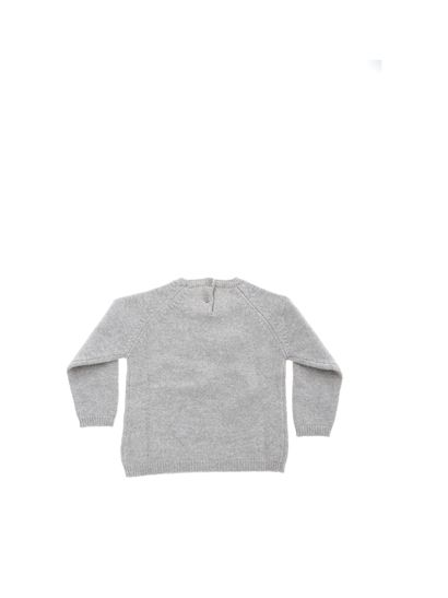 Il Gufo - Gray pullover with I G inlay