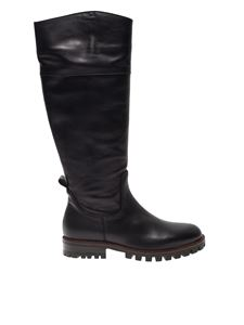 Anna Baiguera - Annbk boots in black leather with lug sole