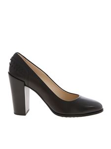 Tod's - Black leather pumps with rubber pads