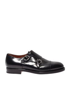 Santoni - Monk Strap shoes in black