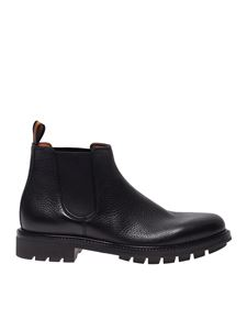 Santoni - Chelsea boots in black leather