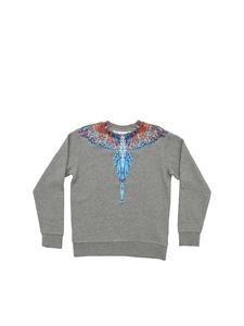 Marcelo Burlon Kids - Big Wings sweatshirt in melange grey