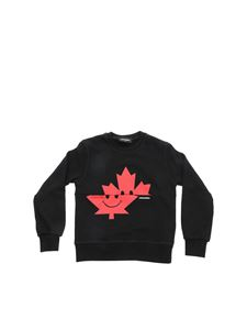 Dsquared2 - Maple Leaf sweatshirt in black and red