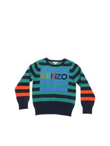 Kenzo - Striped pullover in green and blue