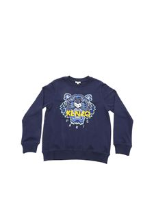Kenzo - Tiger sweatshirt in navy blue color