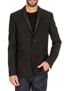 Fendi - FF organza lapels jacket in black
