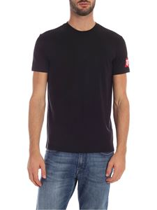 Dsquared2 - T-shirt nera con patch logo