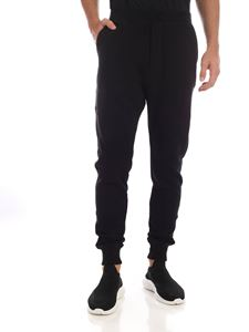 Dsquared2 - Black trousers with rubberized patch