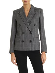 Isabel Marant Étoile - Visby grey jacket with check pattern