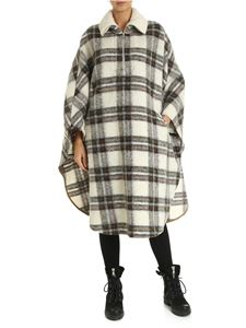 Isabel Marant Étoile - White cape with a check pattern