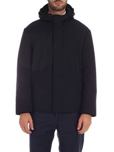 Emporio Armani - Blue jacket with removable hood
