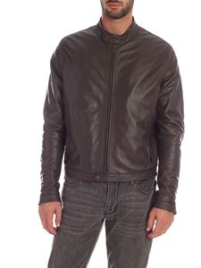 Tagliatore - Brown leather lined jacket