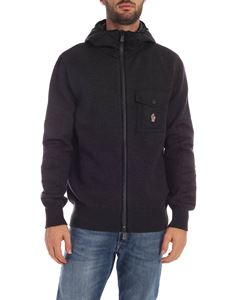 Moncler Grenoble - Patch pocket cardigan in dark gray