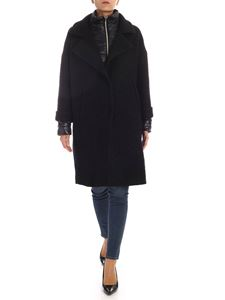 Herno - Coat in black with tone on tone down jacket