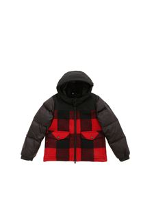 Woolrich - Buffalo black down jacket with check detail