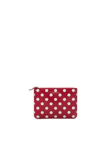 Comme Des Garçons Wallet - Polka Dots pouch in red
