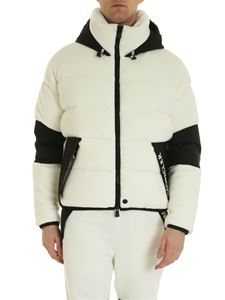 Moncler Grenoble - Cardigan effetto teddy bianco