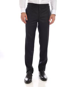 Canali - Wool trousers in dark grey color