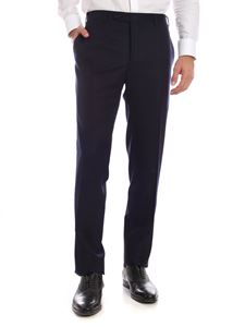 Canali - Blue wool trousers