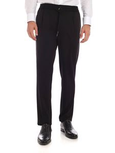 Canali - Black Edition trousers in black