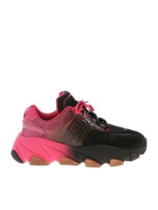 Ash - Extasy sneakers in black and fuchsia