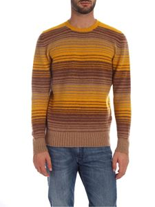 Drumohr - Striped pattern pullover in mustard color