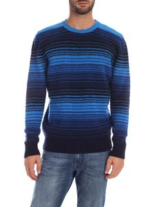 Drumohr - Striped pattern pullover in light blue