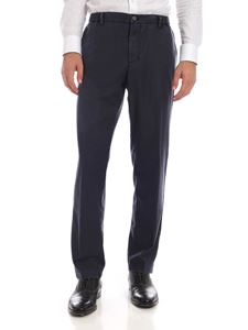 MYTHS - Trousers with elastic drawstring in melange blue