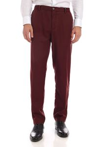 MYTHS - Trousers with drawstring in burgundy