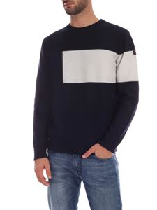Paul & Shark - Blue pullover with white insert