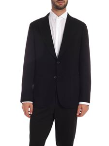 Caruso - Black jacket with tone-on-tone pattern