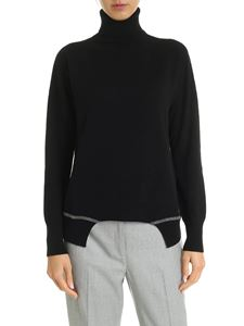 Fabiana Filippi - Black turtleneck with jewel insert