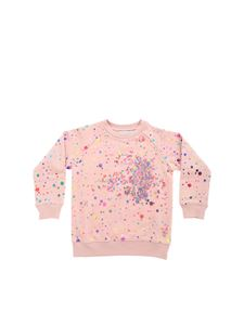 Stella McCartney Kids - Felpa rosa con paillettes