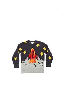 Stella McCartney Kids - Grey pullover with Razzo inlay