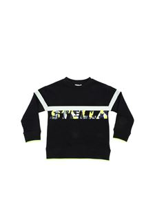 Stella McCartney Kids - Black sweatshirt with camouflage logo print