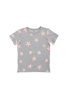 Stella McCartney Kids - Grey T-shirt with vintage effect star print