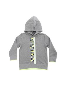 Stella McCartney Kids - Grey sweatshirt with camouflage logo print